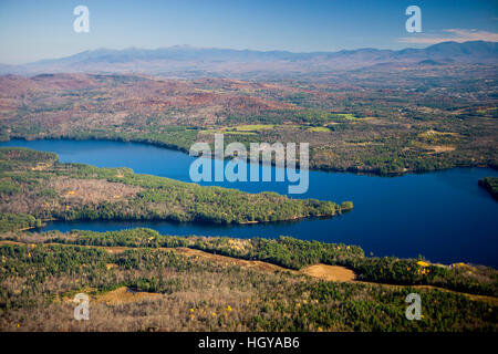 The Moore Reservoir on the Connecticut River in Littleton, New Hampshire.  White Mountains. - Stock Image