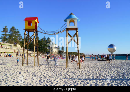 Artwork on display at the 2015 Sculpture By the Sea event. Cottesloe Beach, Perth. Western Australia. - Stock Image