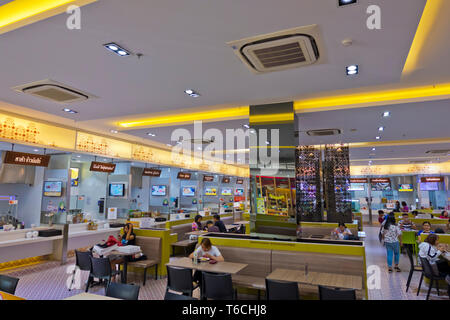 Food court, Limelight, shopping mall, Phuket town, Thailand - Stock Image
