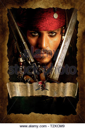 JOHNNY DEPP, PIRATES OF THE CARIBBEAN: THE CURSE OF THE BLACK PEARL, 2003 - Stock Image