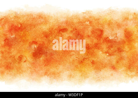 Autumn red color abstract on natural watercolor hand paint background - Stock Image