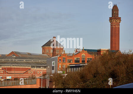 Grade II listed HMP Her majesty's Prison high-security men's prison referred to as Strangeways designed by Alfred Waterhouse, - Stock Image