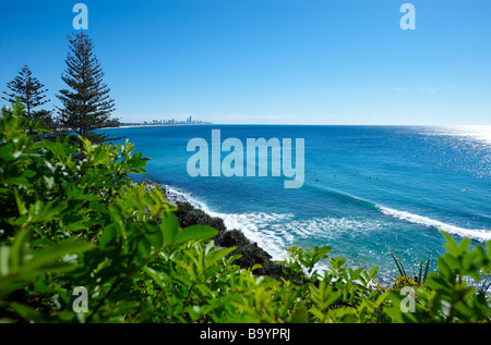 Surf on the Gold Coast Queensland Australia - Stock Image