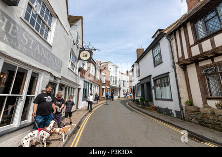 Visitors in The Mint St in Rye, East Sussex, England, UK - Stock Image