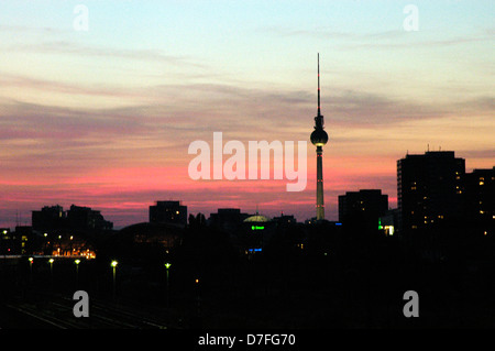Europe, Germany, Berlin, television tower, Fernsehturm - Stock Image
