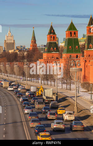 Cityscape, Kremlin, Moscow, Russia - Stock Image