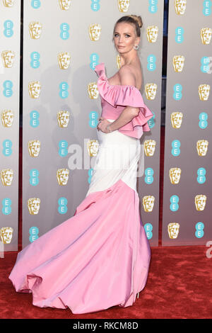 London, UK. 10th Feb, 2019. LONDON, UK. February 10, 2019: Tatiana Korsakova arriving for the BAFTA Film Awards 2019 at the Royal Albert Hall, London. Picture: Steve Vas/Featureflash Credit: Paul Smith/Alamy Live News - Stock Image