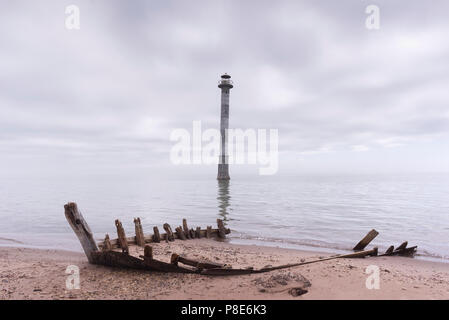 Kiipsaare Lighthouse In Saaremaa Island, Estonia. - Stock Image