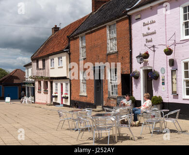 Historic Buildings in The Market Place in Beccles, Suffolk, England, UK - Stock Image