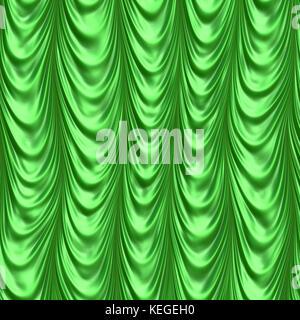 Green curtain - Stock Image