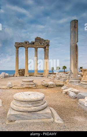 Temple Of Apollo Side Turkey - Stock Image