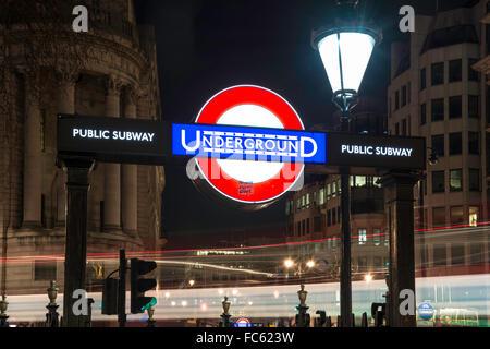 Underground Sign - Stock Image