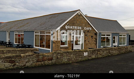 Quayside Cafe Amble  Amble is a small town on the north east coast of Northumberland in North East England. Cw 6660 - Stock Image