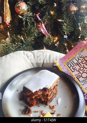 Tree, Christmas cake and Rilke - Stock Image