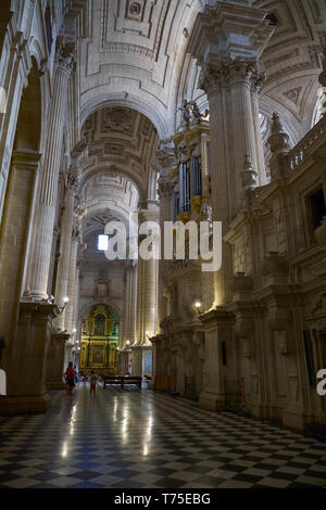 Jaén Cathedral interior. Andalusia, Spain. - Stock Image