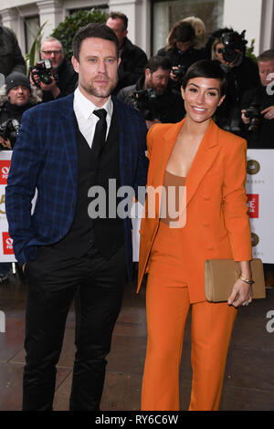 London, UK. 12th Mar, 2019. LONDON, UK. March 12, 2019: Wayne and Frankie Bridge arriving for the TRIC Awards 2019 at the Grosvenor House Hotel, London. Picture: Steve Vas/Featureflash Credit: Paul Smith/Alamy Live News - Stock Image