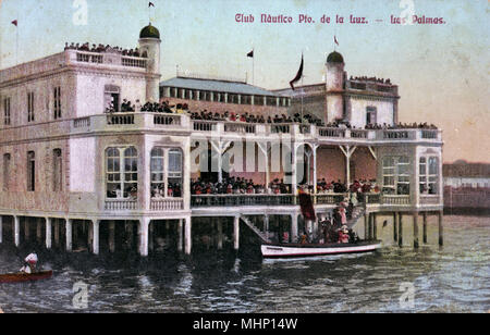 Nautical Club, Puerto de la Luz, Las Palmas, Canary Islands.      Date: 1906 - Stock Image