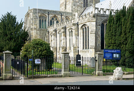 Church of St Mary the Virgin, in the village of Hemingborough, East Yorkshire, England UK - Stock Image