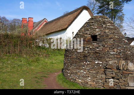 Pigsty, St Fagans National Museum of History, Cardiff, South Wales - Stock Image