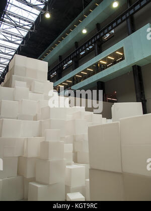 Embankment by Rachel Whiteread, Turbine Hall - Tate Modern Art Gallery, London - Stock Image