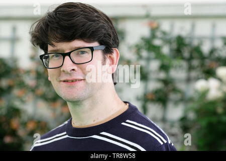 Hay Festival, Hay on Wye, Powys, Wales, UK - Friday 31st May 2019 - Travel writer Nicholas Jubber at the Hay Festival to talk about his latest book Epic Continent - Adventures in the Great Stories of Europe. Photo Steven May / Alamy Live News - Stock Image