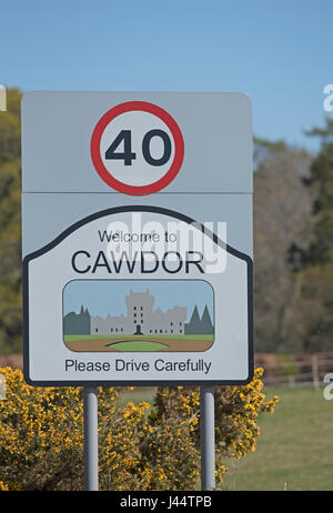 Cawdor village near Nairn,  Grampian Region. North East. Scotland. - Stock Image