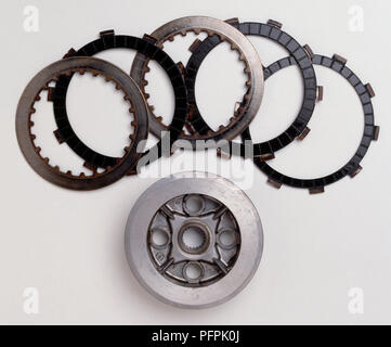 Clutch plates and component. - Stock Image