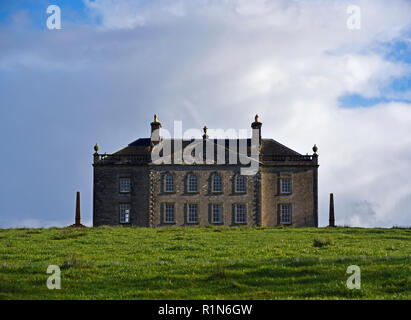 Auchinleck House, West Front. Ochiltree, East Ayrshire, Scotland, United Kingdom, Europe. - Stock Image