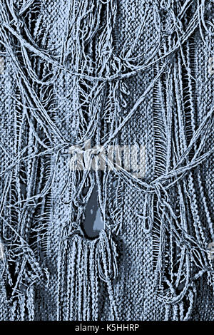 Wall with ropes and decorative texture - Stock Image