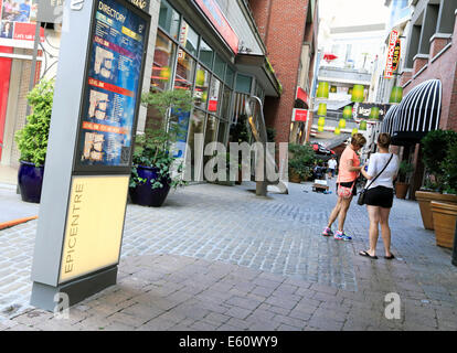 Epicentre shopping center in Charlotte, North Carolina. - Stock Image