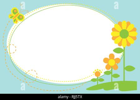 A vector illustration of Cutout Flower Frame - Stock Image