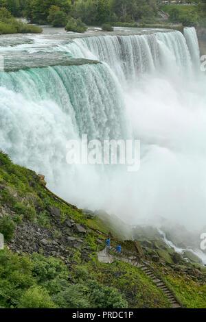 Niagara Falls from New York State, USA - Stock Image