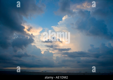 Storm clouds with a break where sun is shining through Hilton Head Island South Carolina USA - Stock Image