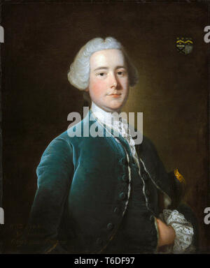 William Fytche of Bengal (1716-1753), Colonial administrator of the British East India Company, portrait painting, 1752 - Stock Image