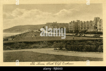 The Lawns, South Cliff, Eastbourne, East Sussex. - Stock Image