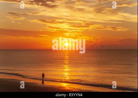 Sunrise at Tybee Island Georgia (USA) - Stock Image
