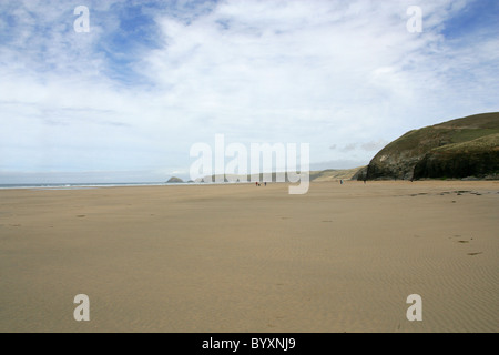 The Beach at Perranporth, North Cornwall Coast, Britain, UK. - Stock Image