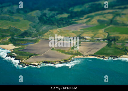 Aerial View of a Coastline - Stock Image
