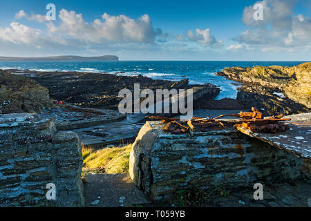 Dunnet Head from The Haven, near Scarfskerry, Caithness, Scotland, UK - Stock Image