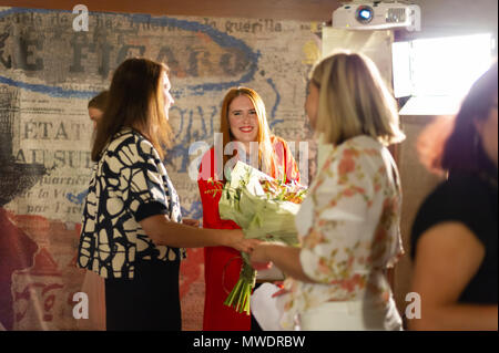 Stockholm, Sweden, June 1, 2018.  Swedish Government´s Music Export Prize. Minister for EU Affairs and Trade, Ann Linde presents the Swedish Government's Music Export Prize. This year's winner - Noonie Bao Credit: Barbro Bergfeldt/Alamy Live News - Stock Image