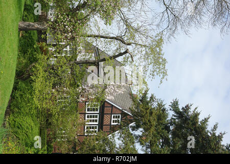 hidden residential building in the old country - Stock Image