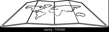 Map design, Planet continent earth world globe ocean and universe theme Vector illustration - Stock Image