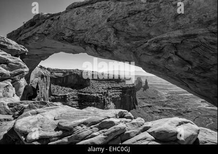 Canyonlands National Park Mesa Arch B&W - Stock Image