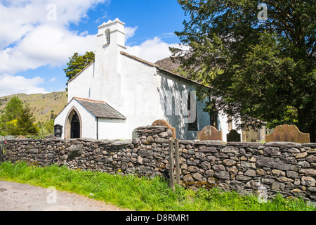 St Andrew's church at Stonethwaite, Borrowdale in the Lake District - Stock Image