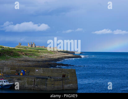 Dunstanburgh Castle Northumberland - Stock Image