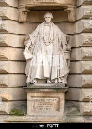 Statue of Sir Samuel Bignold outside Surrey House, Norwich Norfolk England UK. - Stock Image