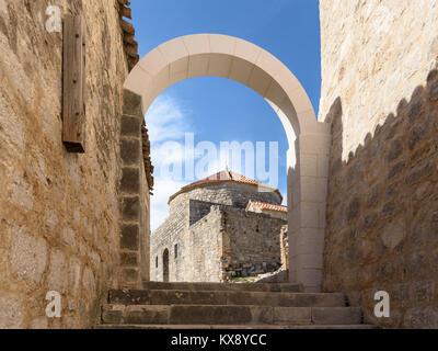 St. Vid Church, Klis Fortress near Split, Croatia - Stock Image