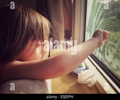 Rainy Caravan Holidays - Stock Image