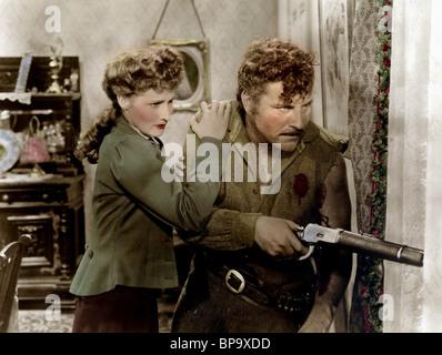 BRENDA MARSHALL ROBERT PRESTON WHISPERING SMITH (1948) - Stock Image