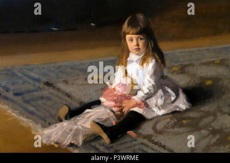 Detail, The Daughters of Edward Darley Boit, John Singer Sargent, 1882, Museum of Fine Arts, Boston, Mass, USA, North America - Stock Image